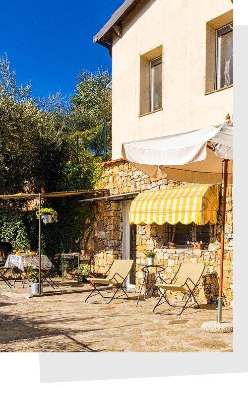Appartamento vacanza Riviera dei Fiori: giardino privato Le PIetre