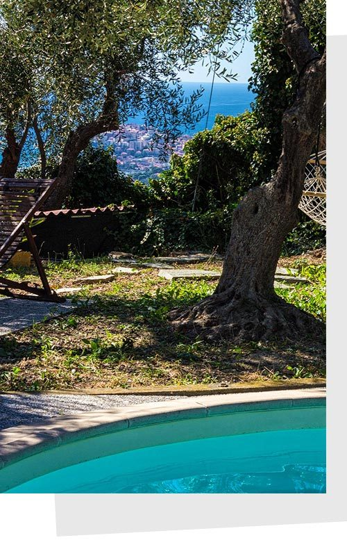 Casa vacanze con piscina: scorcio di Imperia